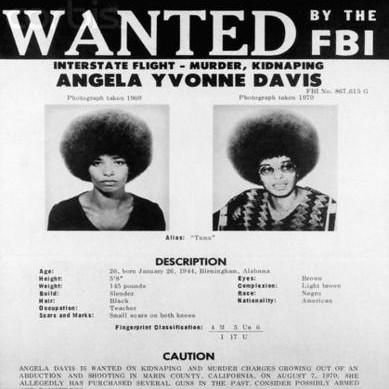 FBI Poster of Communist Activist Angela Davis